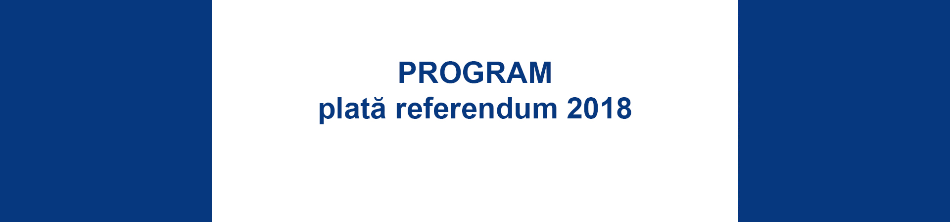Program plată referendum 2018
